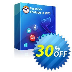 StreamFab YouTube to MP3 (1 Month License)割引コード・30% OFF StreamFab YouTube to MP3 (1 Month License), verified キャンペーン:Special sales code of StreamFab YouTube to MP3 (1 Month License), tested & approved