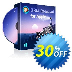 DVDFab DRM Removal for Apple 優惠券,折扣碼 30% OFF DVDFab DRM Removal for Apple, verified,促銷代碼: Special sales code of DVDFab DRM Removal for Apple, tested & approved