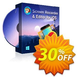 DVDFab Screen Recorder & Editor for iOS discount coupon 30% OFF DVDFab Screen Recorder & Editor for iOS, verified - Special sales code of DVDFab Screen Recorder & Editor for iOS, tested & approved