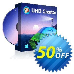 DVDFab UHD Creator Coupon, discount 50% OFF DVDFab UHD Creator, verified. Promotion: Special sales code of DVDFab UHD Creator, tested & approved