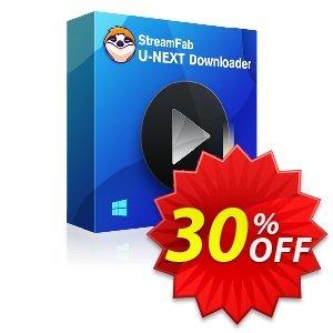 StreamFab U-NEXT Downloader (1 Month License) discount coupon 30% OFF StreamFab U-NEXT Downloader (1 Month License), verified - Special sales code of StreamFab U-NEXT Downloader (1 Month License), tested & approved