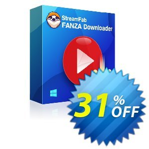 StreamFab FANZA Downloader Coupon, discount 31% OFF StreamFab FANZA Downloader, verified. Promotion: Special sales code of StreamFab FANZA Downloader, tested & approved