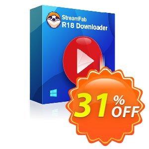 StreamFab R18 Downloader Lifetime License discount coupon 31% OFF StreamFab R18 Downloader Lifetime License, verified - Special sales code of StreamFab R18 Downloader Lifetime License, tested & approved