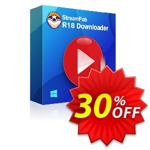 StreamFab R18 Downloader (1 Year License) discount coupon 30% OFF StreamFab R18 Downloader (1 Year License), verified - Special sales code of StreamFab R18 Downloader (1 Year License), tested & approved