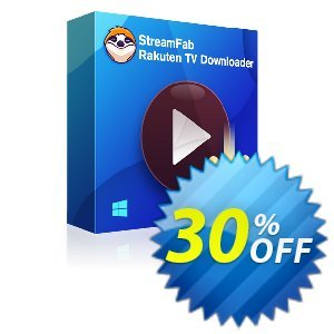 StreamFab Rakuten Downloader PRO (1 Year) Coupon, discount 30% OFF StreamFab Rakuten Downloader PRO (1 Year), verified. Promotion: Special sales code of StreamFab Rakuten Downloader PRO (1 Year), tested & approved