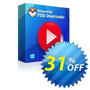 StreamFab FOD Downloader Coupon, discount 31% OFF StreamFab FOD Downloader, verified. Promotion: Special sales code of StreamFab FOD Downloader, tested & approved