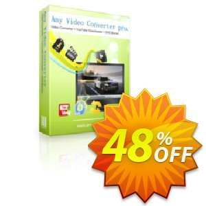 Any Video Converter Pro. Coupon, discount sale discount. Promotion: