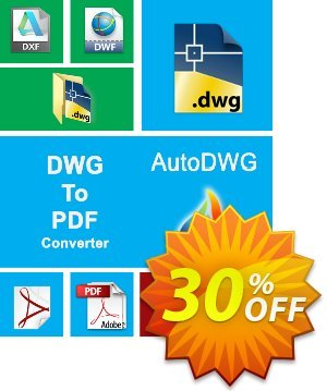 AutoDWG DWG to PDF Converter offering sales 25% AutoDWG (12005). Promotion:
