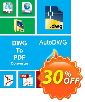 AutoDWG DWG to PDF Converter 2015 Coupon, discount 25% AutoDWG (12005). Promotion: