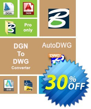 AutoDWG DGN to DWG Converter 2015 Coupon, discount 25% AutoDWG (12005). Promotion: 10% Discount from AutoDWG (12005)