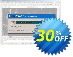 PDF to DWG Stand-Alone version Server License Coupon, discount 10% AutoDWG (12005). Promotion: 10% Discount from AutoDWG (12005)