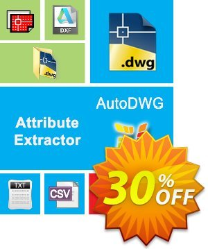 AutoDWG Atttribute Extractor Server Coupon, discount 25% AutoDWG (12005). Promotion: 10% Discount from AutoDWG (12005)