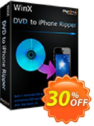 WinX DVD to iPhone Ripper Coupon, discount WinX DVD to iPhone Ripper exclusive discounts code 2020. Promotion: exclusive discounts code of WinX DVD to iPhone Ripper 2020