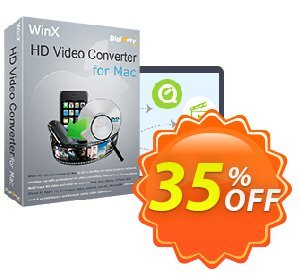 WinX HD Video Converter for Mac discount coupon Special Offer for softwarediscounts - 50% off for WinXdvd, DRP, DELUXE, DCP, DRM, MC
