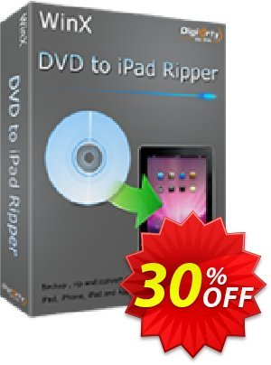 WinX DVD to iPad Ripper Coupon, discount WinX DVD to iPad Ripper staggering discounts code 2020. Promotion: staggering discounts code of WinX DVD to iPad Ripper 2020