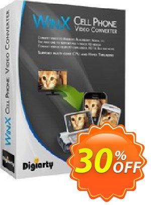 WinX Cell Phone Video Converter Coupon, discount WinX Cell Phone Video Converter dreaded promo code 2021. Promotion: dreaded promo code of WinX Cell Phone Video Converter 2021