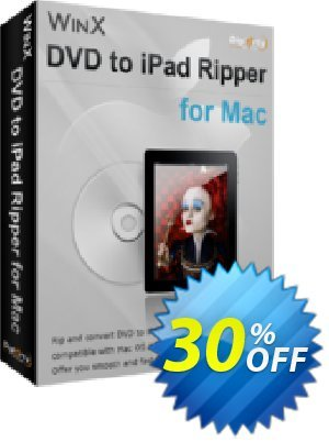 WinX DVD to iPad Ripper for Mac Coupon, discount WinX DVD to iPad Ripper for Mac amazing discount code 2021. Promotion: amazing discount code of WinX DVD to iPad Ripper for Mac 2021