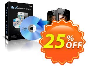 MacX iPhone DVD Ripper Coupon, discount MacX iPhone DVD Ripper stirring offer code 2020. Promotion: stirring offer code of MacX iPhone DVD Ripper 2020