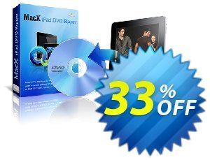 MacX iPad DVD Ripper discount coupon MacX iPad DVD Ripper impressive discount code 2020 - impressive discount code of MacX iPad DVD Ripper 2020
