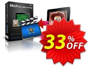 MacX iPad Video Converter Coupon, discount MacX iPad Video Converter marvelous deals code 2020. Promotion: marvelous deals code of MacX iPad Video Converter 2020