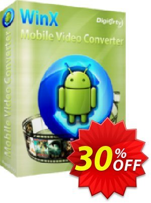 WinX Mobile Video Converter Coupon, discount WinX Mobile Video Converter imposing sales code 2020. Promotion: imposing sales code of WinX Mobile Video Converter 2020