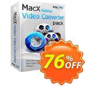 MacX Holiday Video Converter Pack Coupon, discount $32.95 Holiday Pack for Affiliate Halloween Promo. Promotion: staggering sales code of MacX Holiday Video Converter Pack 2021