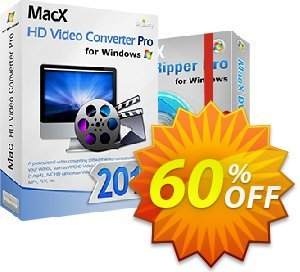 MacX HD Video Converter Pro for Windows - Family Video Pack Coupon, discount . Promotion: MacX HD Video Converter Pro Family Video Pack coupon discount