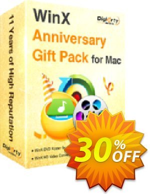 WinX Anniversary Pack for Mac Coupon, discount WinX Anniversary Gift Pack for Mac awful offer code 2020. Promotion: awful offer code of WinX Anniversary Gift Pack for Mac 2020