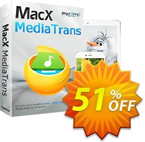 MacX MediaTrans Lifetime (2 PCs) Coupon, discount $30 for MacX MediaTrans (lifetime license) - Affiliate. Promotion: MediaTrans discount coupon unlimited coupon (lifetime license): MXMT