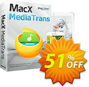 MacX MediaTrans (Lifetime) Coupon discount MediaTrans discount code. Promotion: MediaTrans discount coupon unlimited coupon (lifetime license): MXMT