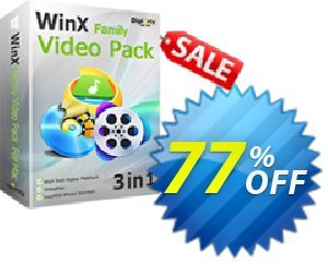WinX Family Video Pack (for 2 PCs) Coupon, discount WinX Family Video Pack (for 2 PCs) exclusive offer code 2021. Promotion: exclusive offer code of WinX Family Video Pack (for 2 PCs) 2021