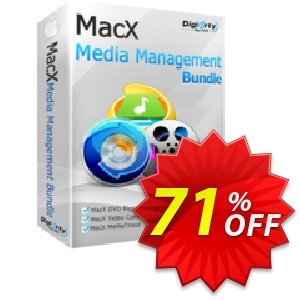 MacX Media Management Suite Coupon, discount Media Bundle 70% OFF. Promotion:  MacX Media Management Suite discount promo MMBDAFFNEW70
