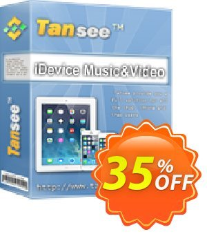 Tansee iOS Music&Video Transfer Coupon discount Tansee discount codes 13181 - 13181-3