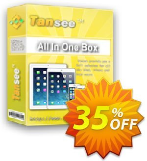 Tansee All in One Box Coupon, discount Tansee discount codes 13181. Promotion: 13181-3