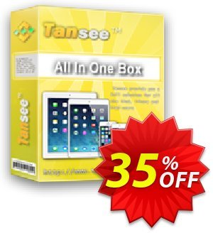 Tansee All in One Box (Windows) 1 year License Coupon, discount Tansee discount codes 13181. Promotion: Tansee discount coupon (13181)