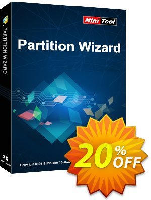 MiniTool Partition Wizard Technician (Lifetime Upgrade) Coupon discount 20% off