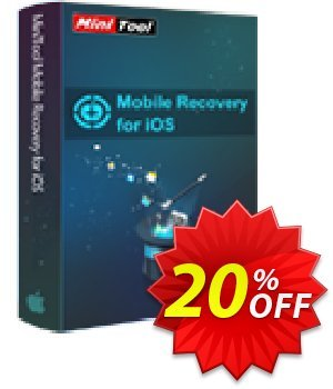 MiniTool Mobile Recovery for iOS (1-Year) Coupon, discount 20% off. Promotion: