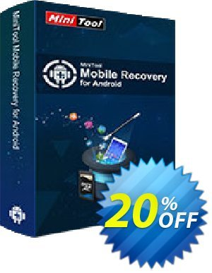 MiniTool Mobile Recovery for Android Lifetime 優惠券,折扣碼 20% off,促銷代碼: