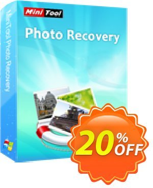 MiniTool Photo Recovery Deluxe Coupon, discount 20% off. Promotion: