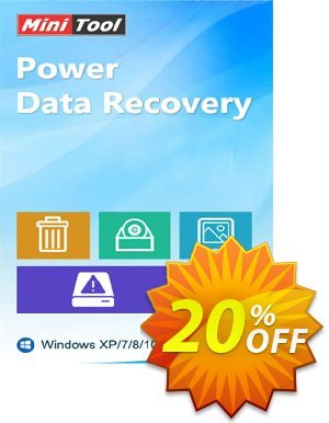 MiniTool Power Data Recovery - Business Ultimate 優惠券,折扣碼 20% off,促銷代碼: