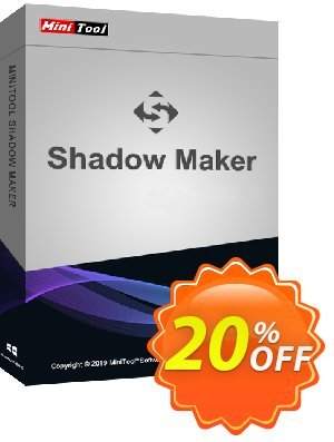 MiniTool ShadowMaker Business Coupon, discount 20% off. Promotion: