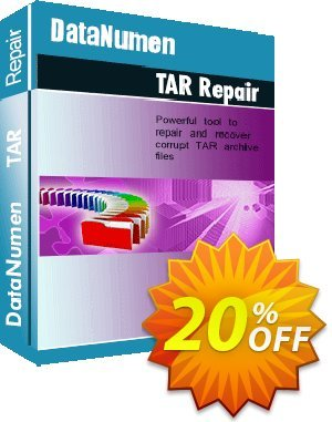 DataNumen TAR Repair Coupon, discount Post Order Coupon. Promotion: Coupon for educational and non-profit organizations