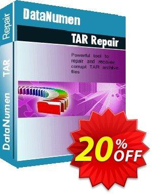 DataNumen TAR Repair Coupon discount Education Coupon. Promotion: Coupon for educational and non-profit organizations