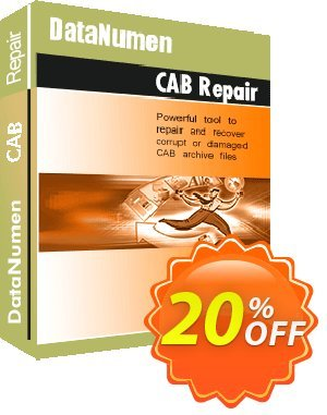 DataNumen CAB Repair Coupon, discount Post Order Coupon. Promotion: Coupon for educational and non-profit organizations