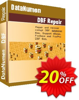 DataNumen DBF Repair Coupon, discount Education Coupon. Promotion: Coupon for educational and non-profit organizations