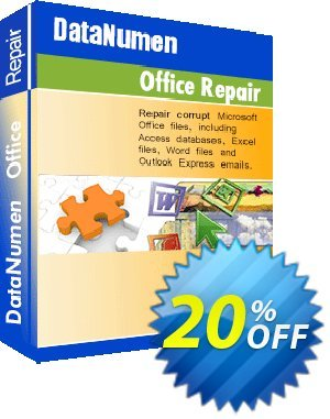 DataNumen Office Repair Coupon, discount Post Order Coupon. Promotion: Coupon for educational and non-profit organizations