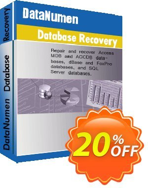 DataNumen Database Recovery Coupon, discount Post Order Coupon. Promotion: Coupon for educational and non-profit organizations