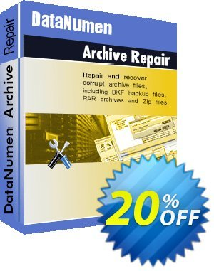 DataNumen Archive Repair Coupon, discount Education Coupon. Promotion: Coupon for educational and non-profit organizations