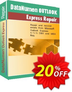 DataNumen Outlook Express Repair - Business Coupon, discount Education Coupon. Promotion: Coupon for educational and non-profit organizations