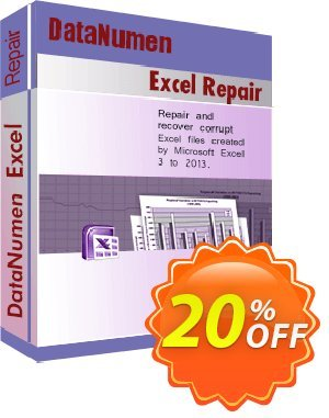 DataNumen Excel Repair Coupon, discount Education Coupon. Promotion: Coupon for educational and non-profit organizations
